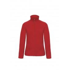 Флисовая куртка B&С  женская на молнии без капюшона ID 501 Red