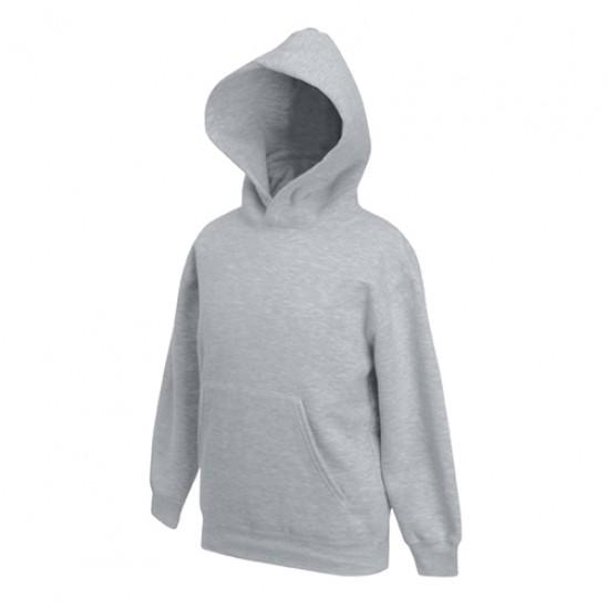 Толстовка  Premium с капюшоном детская FOL Kids Hooded Sweat Heather Grey