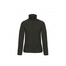 Флисовая куртка B&С  женская на молнии без капюшона ID 501 Black