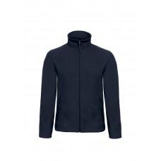 Флисовая куртка B&C унисекс на молнии без капюшона ID 501 Navy